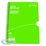 Graffico Recycled Spiral Bound A4 Feint Ruled 100 Pages Notebook 9100035