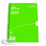 Graffico Recycled Spiral Bound Notebook 100 Pages A5 (10 Pack) 5000335