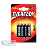 Eveready Battery Silver AAA Pack of 4 RO3B4UP