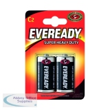Eveready Super Heavy Duty Size C Batteries (2 Pack) R14B2UP
