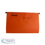 Esselte Orange Suspension File Foolscap V (50 Pack) 10402