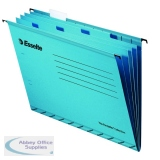 Esselte Classic Blue Foolscap Suspension File Divider (10 Pack) 93135