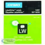 Dymo CD/DVD Label White 14681 S0719250 (160 Pack)