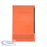 Esselte Orgarex Lateral Insert White With Orange Tip (250 Pack) 326900