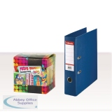Esselte Lever Arch File Foolscap 75mm Polypropylene Blue (10 Pack) with FOC Sweets ES810773