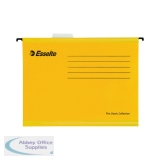 Esselte Classic Foolscap Yellow Suspension File (25 Pack) 90335