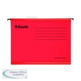 Esselte Classic Foolscap Red Suspension File (25 Pack) 90336