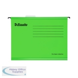 Esselte Classic Foolscap Suspension File Green (25 Pack) 90337