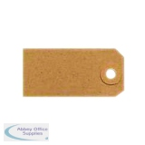 Unstrung Tags 1A 70 x 35mm Buff Single (1000 Pack) TG8021