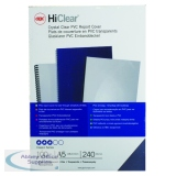 GBC HiClear PVC Binding Covers 240 Micron A5 Clear (100 Pack) 4400025