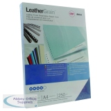 GBC LeatherGrain 250gsm A4 Royal Blue Binding Covers (100 Pack) CE040029