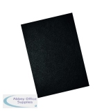 GBC LeatherGrain 250gsm A4 Black Binding Covers (100 Pack) CE040010