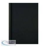 GBC LeatherGrain 1.5mm Black Thermal Binding Covers (100 Pack) IB451607