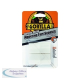 Gorilla Mounting Tape Squares Clear (24 Pack) 3044111