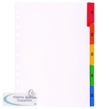 Exacompta Guildhall Mylar Index Coloured Tabs 1-5 A4 White 1105E