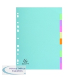 Exacompta Recycled Dividers 10-Part A4 Pastel 1610E