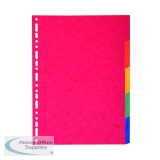 Exacompta Recycled 5-Part Dividers 225gsm pressboard A4 Maxi Bright Multi 2105E