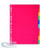 Exacompta Recycled 10-Part Dividers 225gm Pressboard A4 Maxi Bright Multi 2110E