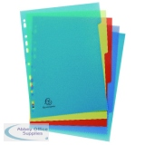 Exacompta Forever Recycled Polypropylene 5 Part Dividers A4 2705E
