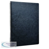 Clairefontaine Age Bag Wirebound Notebook A4 Black (5 Pack) 781451C