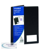 Guildhall A4 24 Pocket Black Display Book CDB24Z