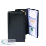 Goldline Black Deluxe Stitched Business Card Holder 96 Card Capacity SBC3P/BLK