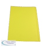 Guildhall Yellow Square Cut Folder Foolscap (100 Pack) FS315-YLWZ