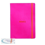 Rhodiarama Soft Cover Notebook 160 Pages A5 Raspberry 117412C