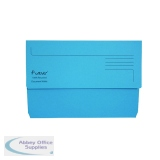 Exacompta Guildhall Forever Document Wallet Manilla Foolscap Bright Blue (25 Pack) 211/5001