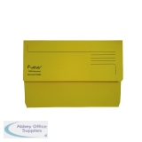 Exacompta Guildhall Forever Document Wallet Manilla Foolscap Bright Yellow (25 Pack) 211/5003