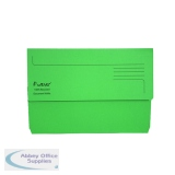 Exacompta Guildhall Forever Document Wallet Manilla Foolscap Bright Green (25 Pack) 211/5004