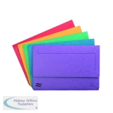 Exacompta Europa Pocket Wallet Foolscap Assorted A (25 Pack) 4790