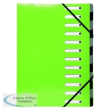 Exacompta Iderama 12-Part File A4 Lime 53923E
