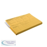 Guildhall Pre-Printed HR File Yellow (50 Pack) 211/1300Z