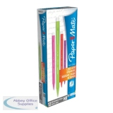 Paper Mate Assorted Neon Non-Stop Automatic Pencils 0.7mm HB (12 Pack) 1906125