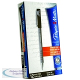 PaperMate Flexgrip Ultra Ballpoint Pen Fine Black (12 Pack) S0190053