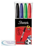 Sharpie Permanent Marker Fine Assorted (4 Pack) S0810970