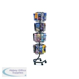 Safco Rotating Floor-Standing Display Unit 32x1/3xA4/DL Pockets 4128CH