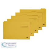 Elba Foolscap Yellow Midweight Tabbed Folder (100 Pack) 100090237
