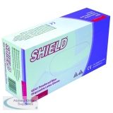 Shield Powdered Blue Latex Medium Gloves (100 Pack) GD41