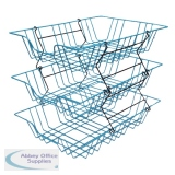 Wire Filing Tray A4 Blue 999BL