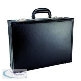 Monolith Black Expandable Leather Attache Case (Single Pack) 2253