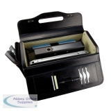 Monolith Bonded Leather Black Pilots Case 2271