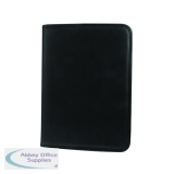 Monolith Leather Look Zipped Ring Binder A4 Black 2926