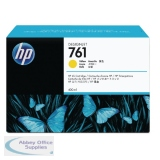 Hewlett Packard No761 Design Jet Inkjet Cartridge 400ml Yellow CM992A