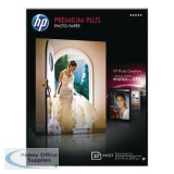 HP White Premium Plus Glossy Photo Paper 13 x 18cm (20 Pack) CR676A