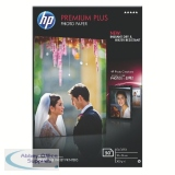 HP White 10x15cm Premium Plus Glossy Photo Paper (50 Pack) CR695A