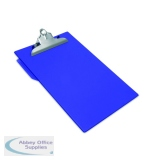 Rapesco Heavy Duty Clipboard Foolscap Blue CD1000L2