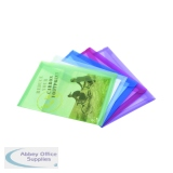 Rapesco ECO Popper Wallet A4 Plus Assorted (5 Pack) 1039