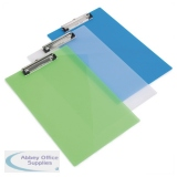 Rapesco Clipboard Frosted Transparent Assorted (10 Pack) SHP PCBAS